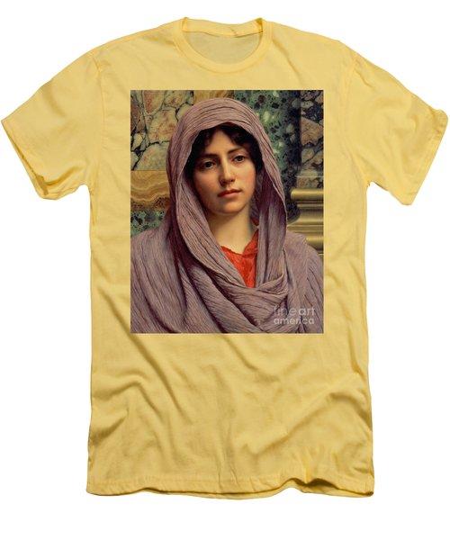 Beautiful Brunette 1918 Men's T-Shirt (Slim Fit) by Padre Art