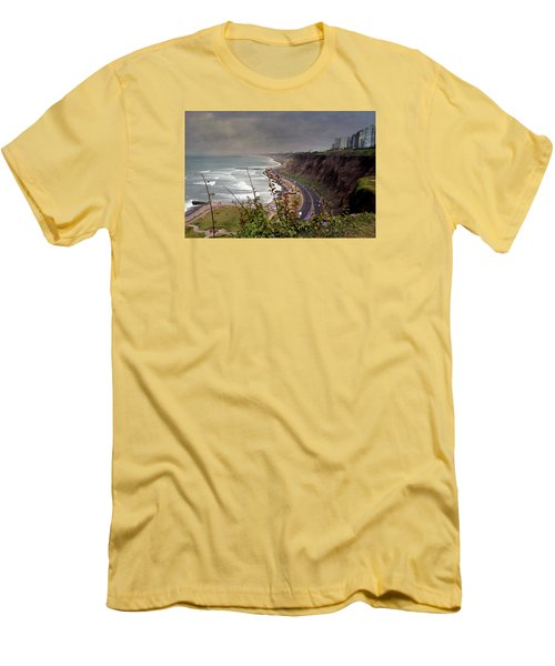 Beautiful Coastline Of Lima Men's T-Shirt (Athletic Fit)