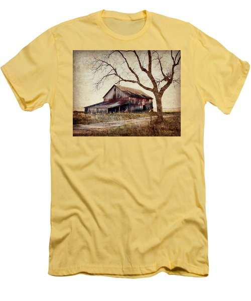 Beautiful Red Barn-near Ogden Men's T-Shirt (Slim Fit) by Kathy M Krause