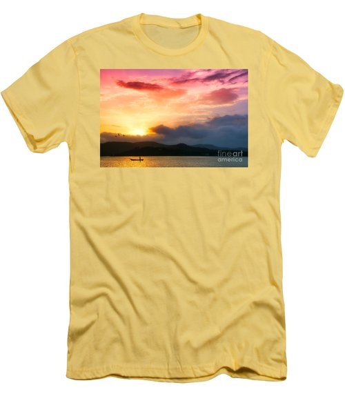Beautiful Sunset Men's T-Shirt (Athletic Fit)