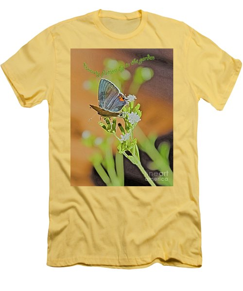 Beauty Flutters By Men's T-Shirt (Athletic Fit)