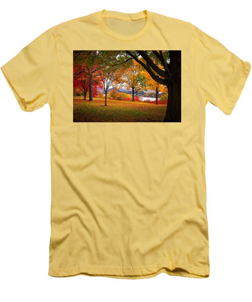 Beaver Park Men's T-Shirt (Slim Fit) by Emmanuel Panagiotakis