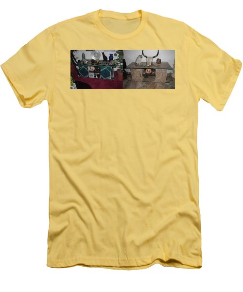 Before And After Men's T-Shirt (Slim Fit) by Val Oconnor