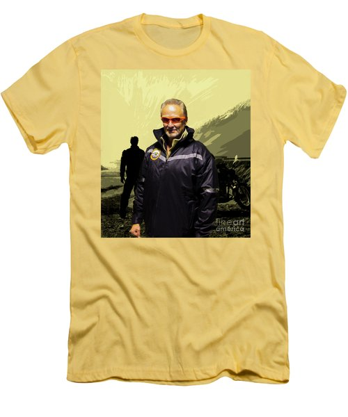 Men's T-Shirt (Slim Fit) featuring the photograph Being In The Movie IIi by Al Bourassa