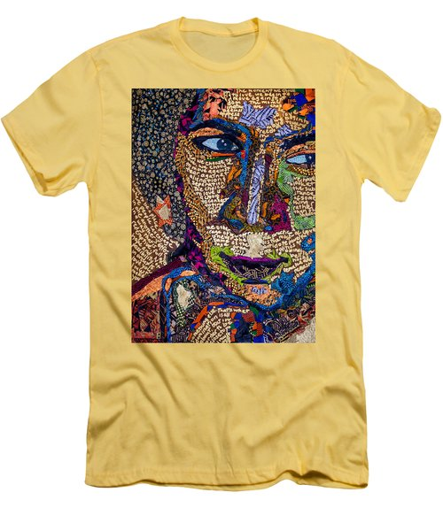Bell Hooks Unscripted Men's T-Shirt (Slim Fit) by Apanaki Temitayo M