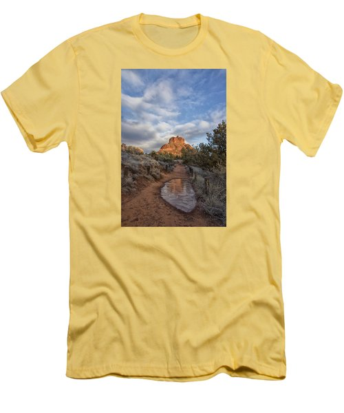 Men's T-Shirt (Slim Fit) featuring the photograph Bell Rock Beckons by Tom Kelly