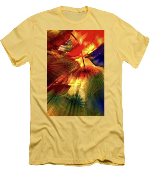Bellagio Ceiling Sculpture Abstract Men's T-Shirt (Slim Fit) by Stuart Litoff