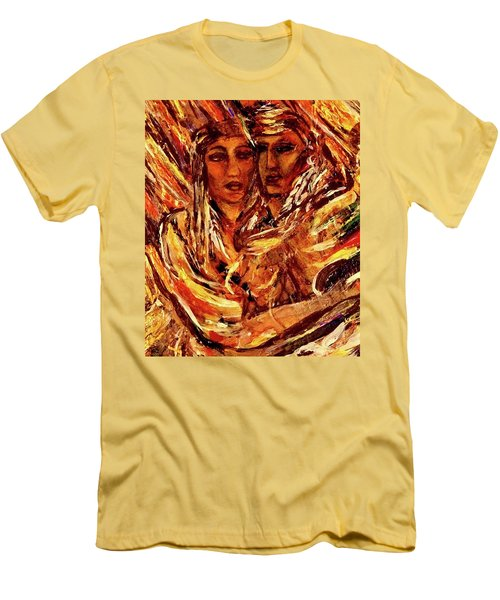 Men's T-Shirt (Slim Fit) featuring the painting Beloved Woman by Dawn Fisher
