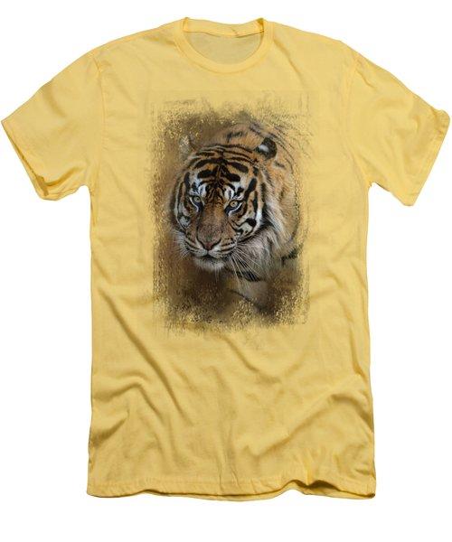 Bengal Stare Men's T-Shirt (Slim Fit) by Jai Johnson