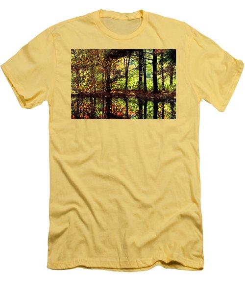 Bernharts Dam Fall 006 Men's T-Shirt (Slim Fit) by Scott McAllister