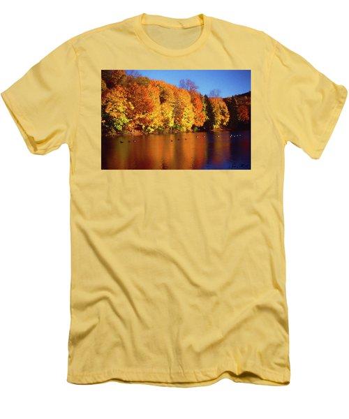 Bernharts Dam Fall 008 Men's T-Shirt (Slim Fit) by Scott McAllister