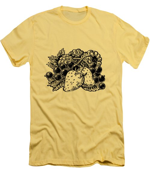Berries From Forest Men's T-Shirt (Athletic Fit)