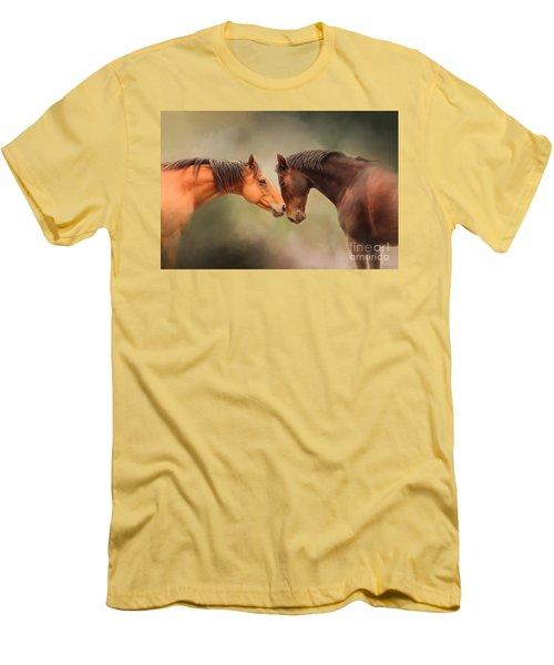 Best Friends - Two Horses Men's T-Shirt (Athletic Fit)