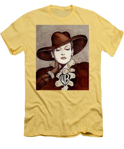 Bette Davis The Warner Brothers Years Men's T-Shirt (Slim Fit) by Tara Hutton