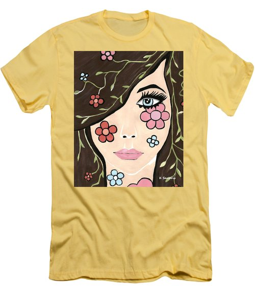 Men's T-Shirt (Slim Fit) featuring the painting Betty by Kathleen Sartoris