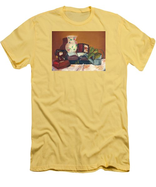 Men's T-Shirt (Slim Fit) featuring the painting Bible Stories by Jane Autry