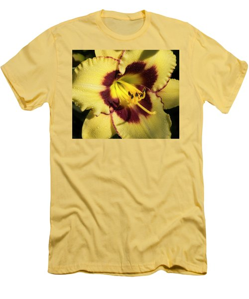 Men's T-Shirt (Slim Fit) featuring the photograph Bicolored Lily by Jean Noren