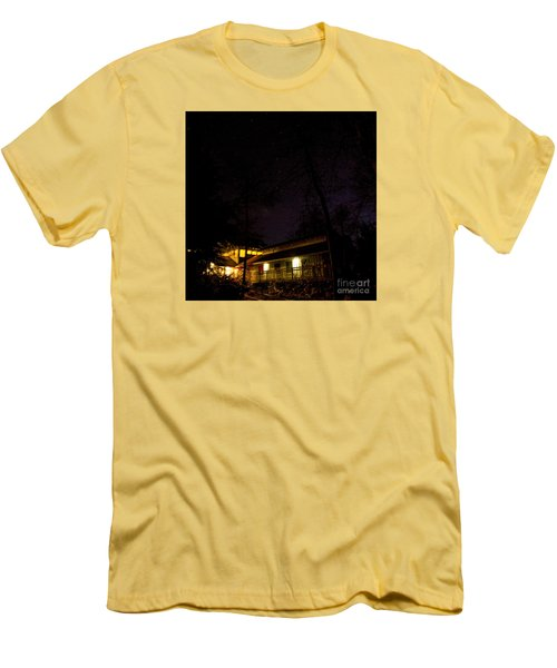 Big Dipper Over Hike Inn Men's T-Shirt (Slim Fit) by Barbara Bowen