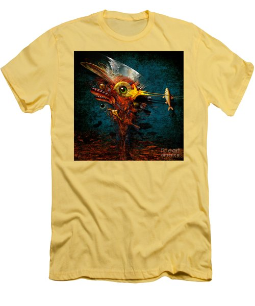 Men's T-Shirt (Slim Fit) featuring the painting Big Hunter by Alexa Szlavics
