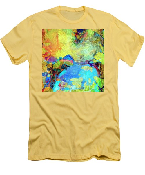 Men's T-Shirt (Slim Fit) featuring the painting Birdland by Dominic Piperata