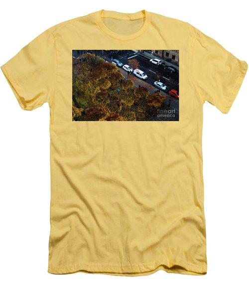Bird's Eye Of A Berlin Street Men's T-Shirt (Slim Fit) by Ana Mireles
