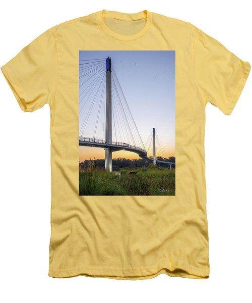 Birds Soaring Over Bob Kerry Bridge Men's T-Shirt (Athletic Fit)