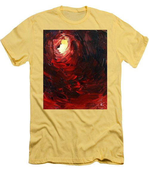 Men's T-Shirt (Slim Fit) featuring the painting Birth by Sheila Mcdonald