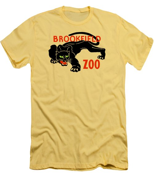 Black Panther Brookfield Zoo Ad Men's T-Shirt (Athletic Fit)