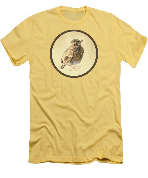 Blackbird Fledgeling Men's T-Shirt (Slim Fit) by Bamalam  Photography