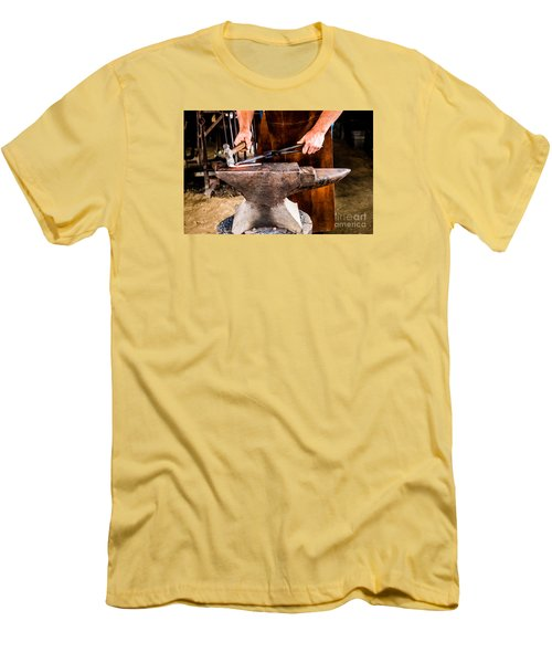 Blacksmith Men's T-Shirt (Slim Fit) by M G Whittingham