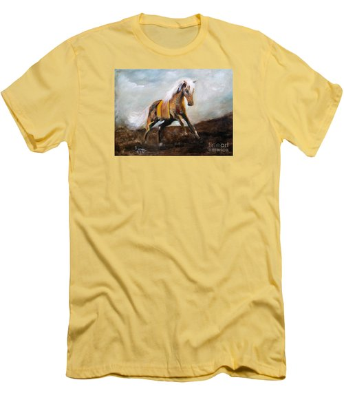 Blanket The War Pony Men's T-Shirt (Slim Fit) by Barbie Batson
