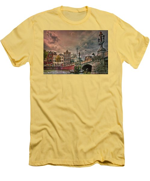 Men's T-Shirt (Athletic Fit) featuring the photograph Blauwbrug -blue Bridge- by Hanny Heim