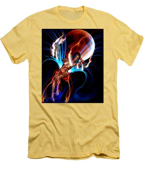 Blazing Eclipse Men's T-Shirt (Slim Fit) by Glenn Feron