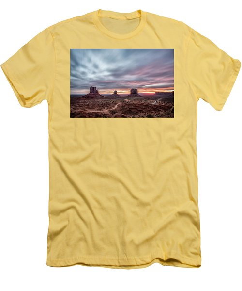 Blended Colors Over The Valley Men's T-Shirt (Athletic Fit)