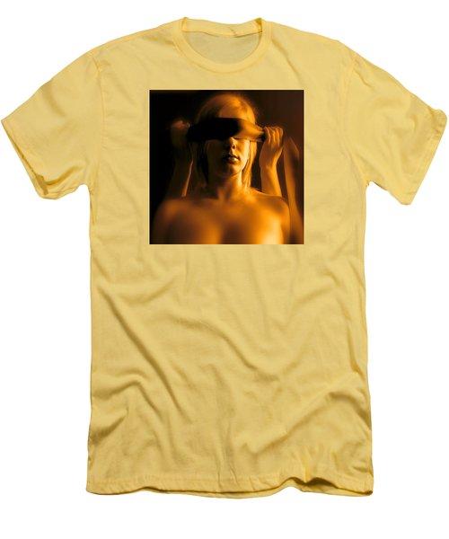 Blindfolded Men's T-Shirt (Slim Fit) by Louis Ferreira