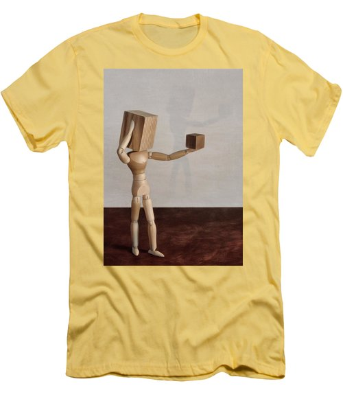 Men's T-Shirt (Slim Fit) featuring the photograph Blockhead by Mark Fuller