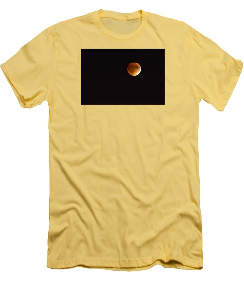 Blood Moon Luna Eclipse Men's T-Shirt (Slim Fit) by Michael Hubley