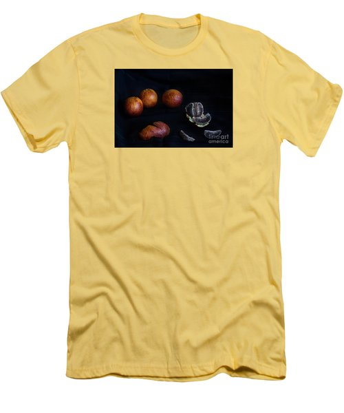 Men's T-Shirt (Slim Fit) featuring the photograph Blood Orange Symphony by William Fields