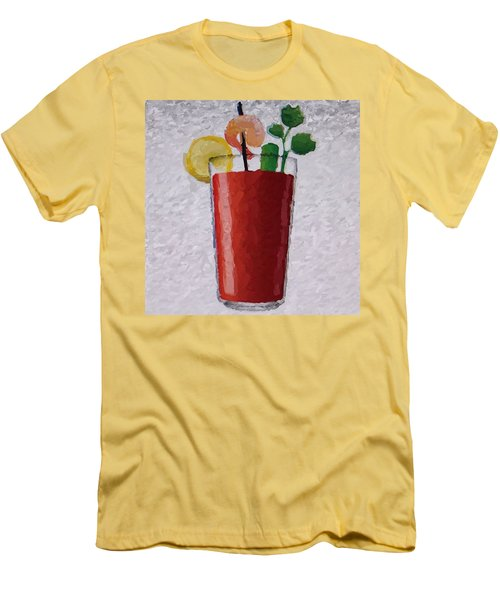 Bloody Mary Emoji Men's T-Shirt (Slim Fit) by  Judy Bernier