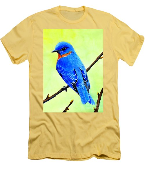 Blue Bird King Men's T-Shirt (Athletic Fit)