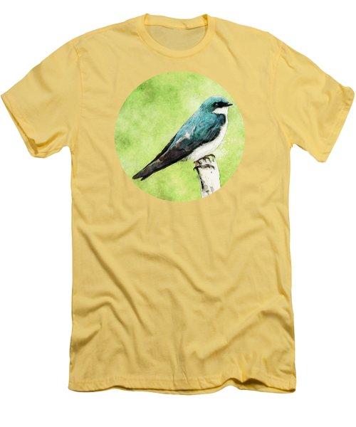 Blue Bird Men's T-Shirt (Slim Fit) by Phil Perkins