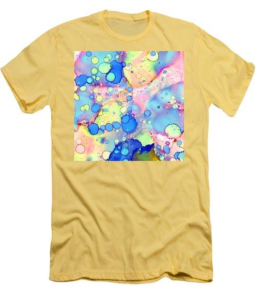 Blue Bubble Gum Pop Men's T-Shirt (Slim Fit) by Patricia Lintner