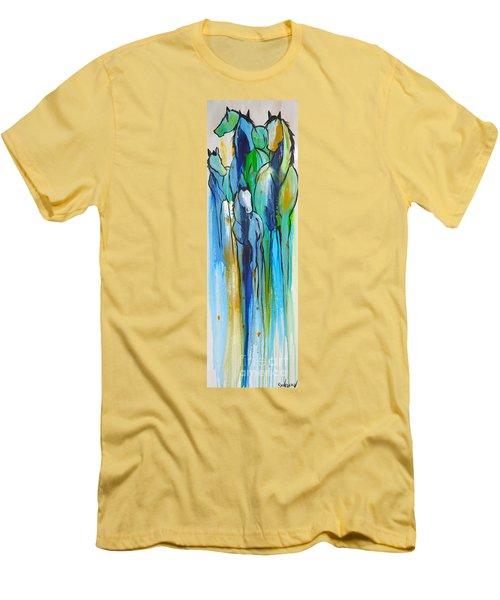 Blue Drip 2 Men's T-Shirt (Slim Fit) by Cher Devereaux