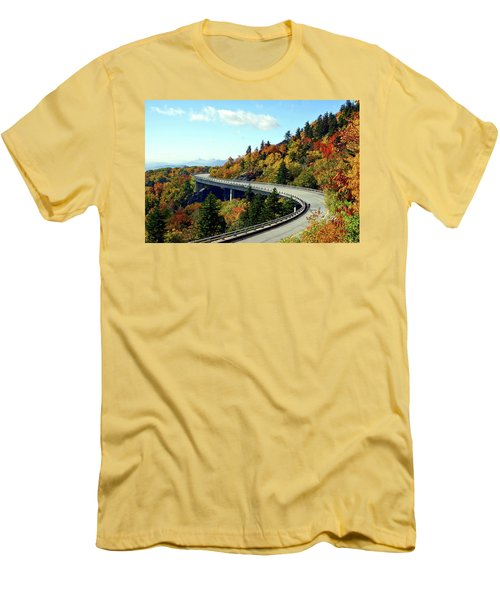 Blue Ridge Parkway Viaduct Men's T-Shirt (Slim Fit) by Meta Gatschenberger