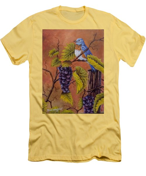 Bluey And The Grape Vine Men's T-Shirt (Slim Fit) by Dan Wagner