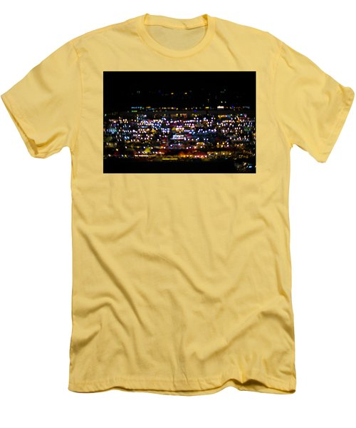 Blurred City Lights  Men's T-Shirt (Slim Fit) by Jingjits Photography