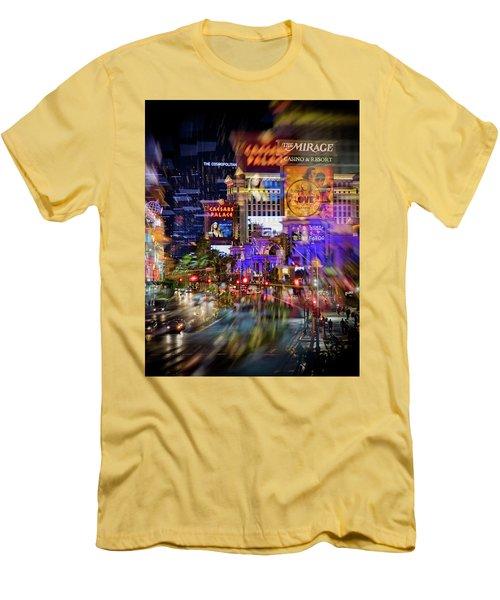 Blurry Vegas Nights Men's T-Shirt (Slim Fit)
