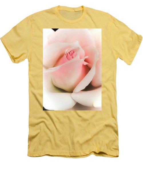 Blushing Petals Men's T-Shirt (Athletic Fit)