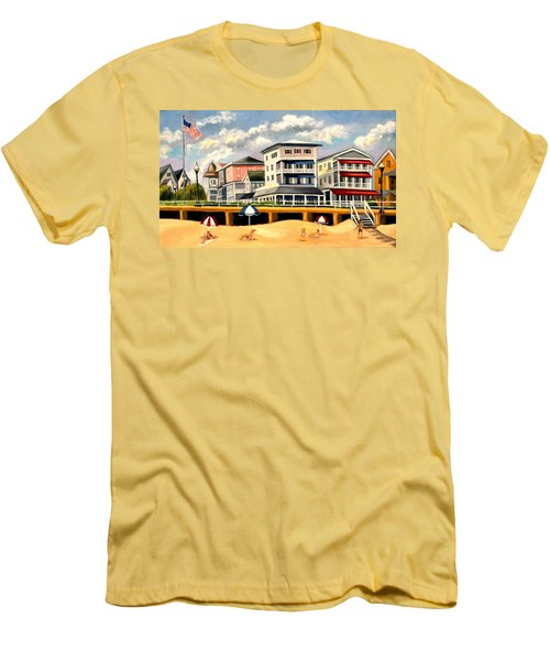 Boardwalk On The Jersey Shore Men's T-Shirt (Slim Fit)