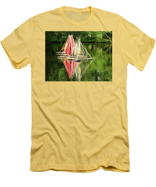 Boats Landscape Men's T-Shirt (Slim Fit) by Manuela Constantin